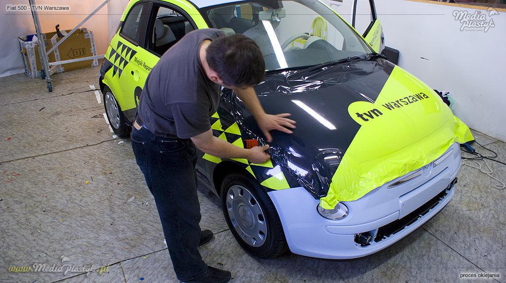 Fiat500 - oklejanie maski