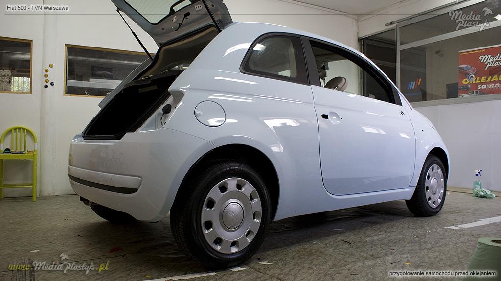 TVN Warszawa - Fiat500 przygotowanie