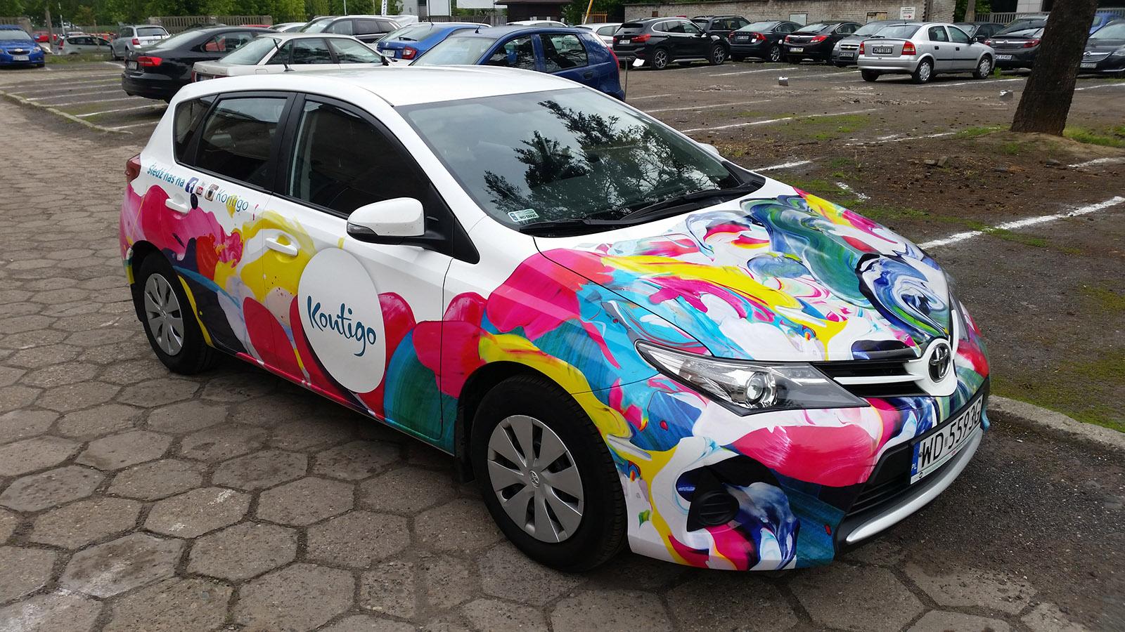 Oklejanie samochodów reklamowe